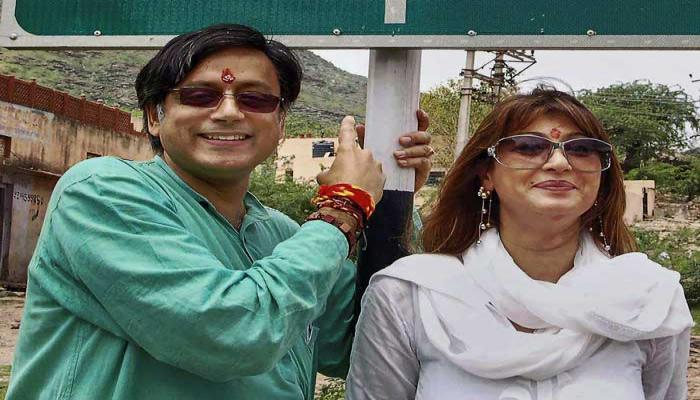 SASHI THARUR and sunanda